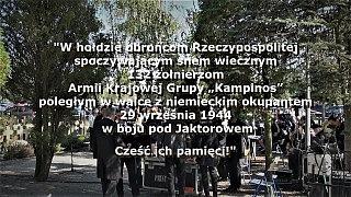 74 rocznica Bitwy pod Jaktorowem – Cmentarz Wojenny AK, Budy Zosine, 30 września 2018 r.