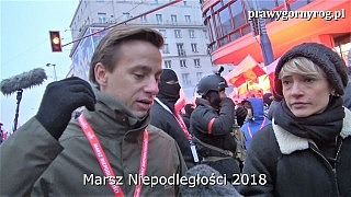 Marsz Niepodległości 2018 – Krzysztof Bosak wywiad dla mediów zagranicznych