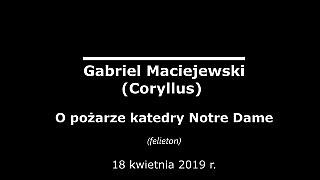 Gabriel Maciejewski – O pożarze katedry Notre Dame