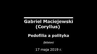 Gabriel Maciejewski – Pedofilia a polityka