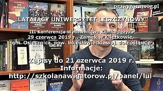 Gabriel Maciejewski – Zaproszenie na III Konferencję LUL do Kliczkowa