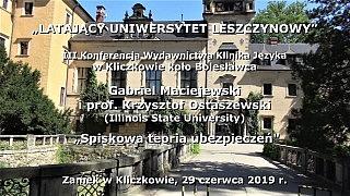 Gabriel Maciejewski i prof. Krzysztof Ostaszewski o Spiskowej Teorii Ubezpieczeń
