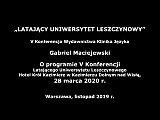 Gabriel Maciejewski – O programie V Konferencji LUL w Kazimierzu Dolnym