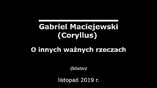 Gabriel Maciejewski – O innych ważnych rzeczach