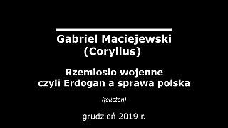 Gabriel Maciejewski – Rzemiosło wojenne czyli Erdogan a sprawa polska