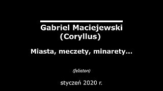 Gabriel Maciejewski – Miasta, meczety, minarety…